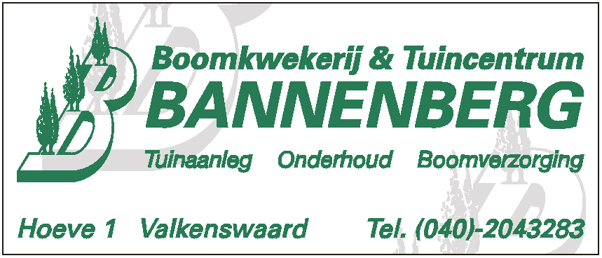 Bannenberg boomkwekerij